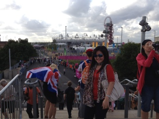 The atmosphere around the Olympic Park was unbelievable