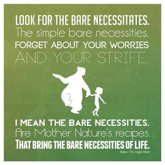ffbd758028e The Bare Necessities and how I realised that Health IS Wealth ...
